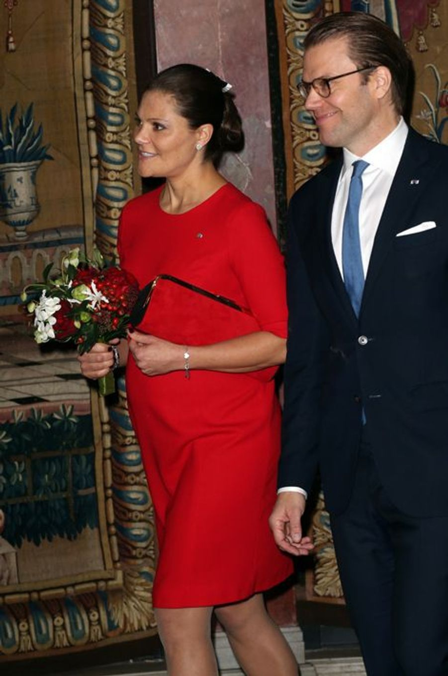La princesse Victoria de Suède avec le prince consort Daniel à Stockholm, le 5 novembre 2015