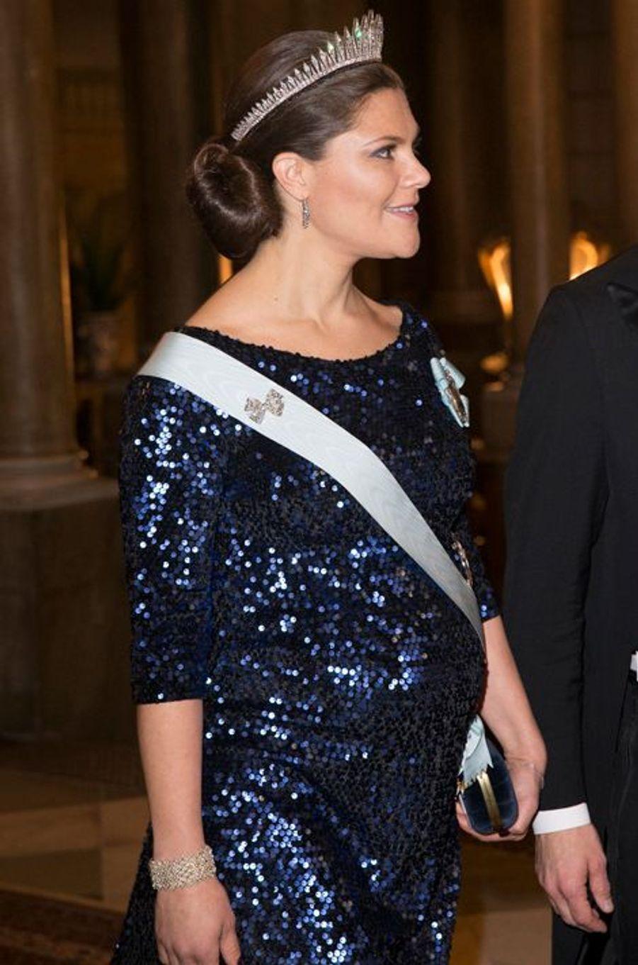 La princesse Victoria de Suède au Palais royal à Stockholm, le 11 décembre 2015
