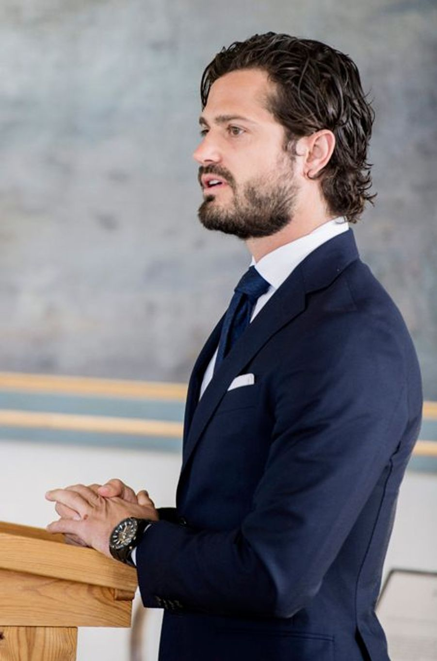 Le prince Carl Philip au château de Stromsholm, le 26 mai 2015