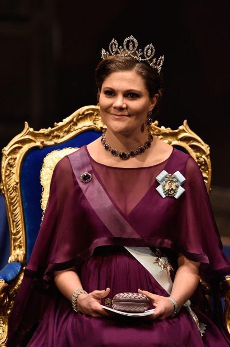 La princesse Victoria de Suède à Stockholm, le 10 décembre 2015