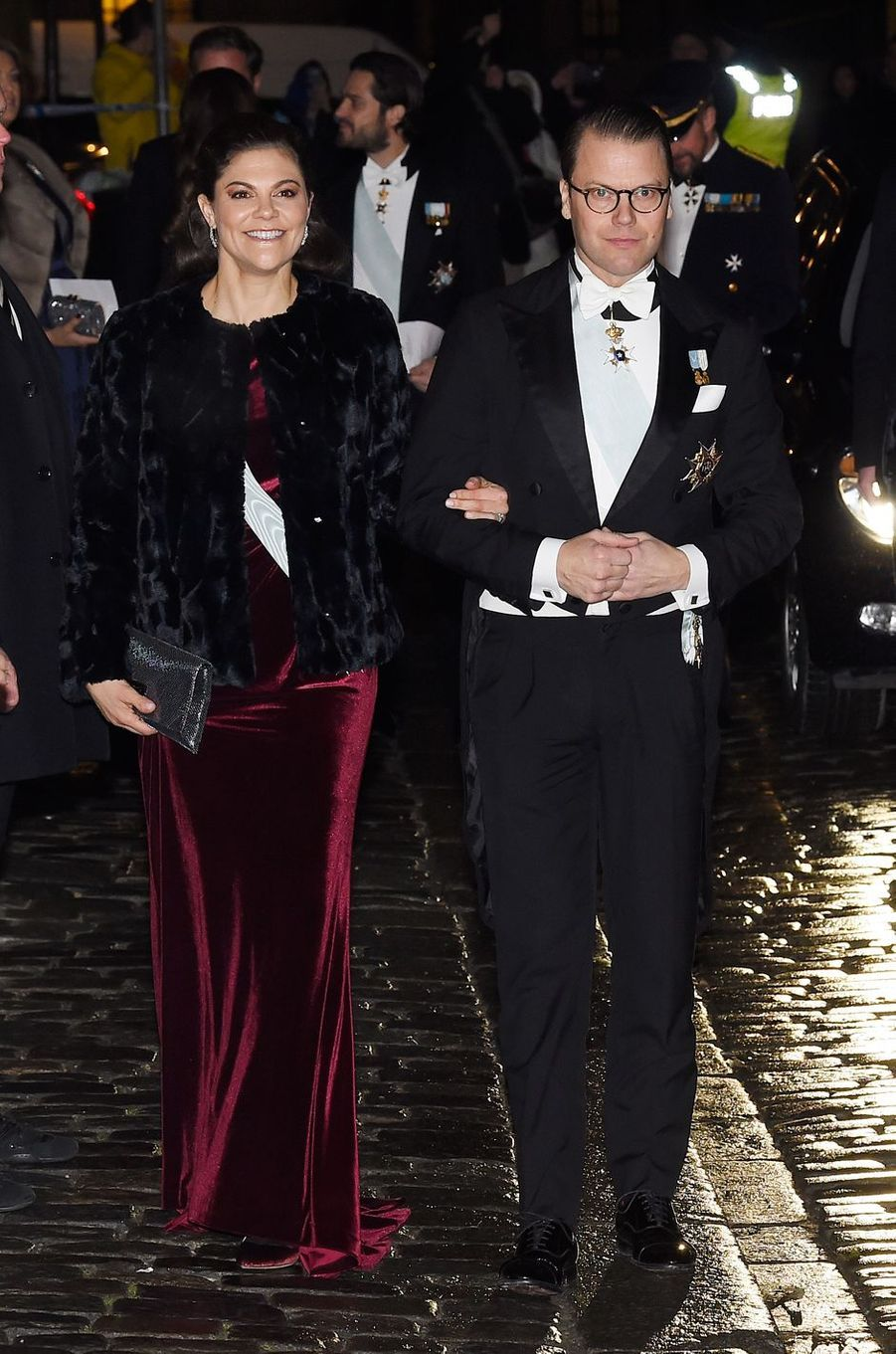 La princesse Victoria de Suède et le prince consort Daniel à Stockholm, le 20 décembre 2017