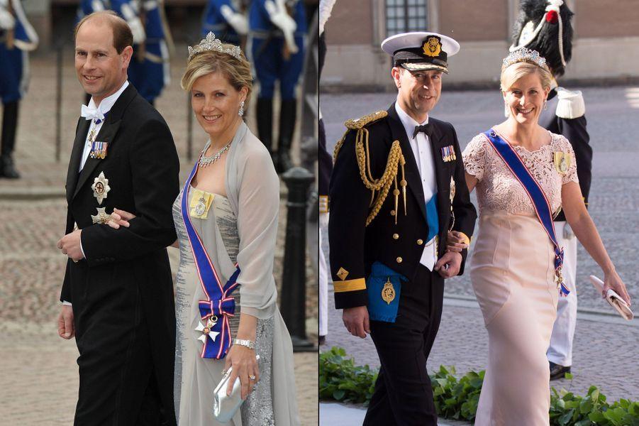 Royaume-Uni : Sa Majesté n'aura pas grand monde à envoyer ce samedi. Les Windsor sont réunis le même jour pour le Trooping the Colour, la revue des troupes et célébration officielle de l'anniversaire de la reine Elizabeth. Ce sont le prince Edward et son épouse la comtesse Sophie qui viendront représenter la couronne. Logique, les Wessex sont des habitués de la cour suédoise. Edward et Sophie étaient déjà les invités du mariage de Victoria en 2010 et de Madeleine en 2013 (photos).