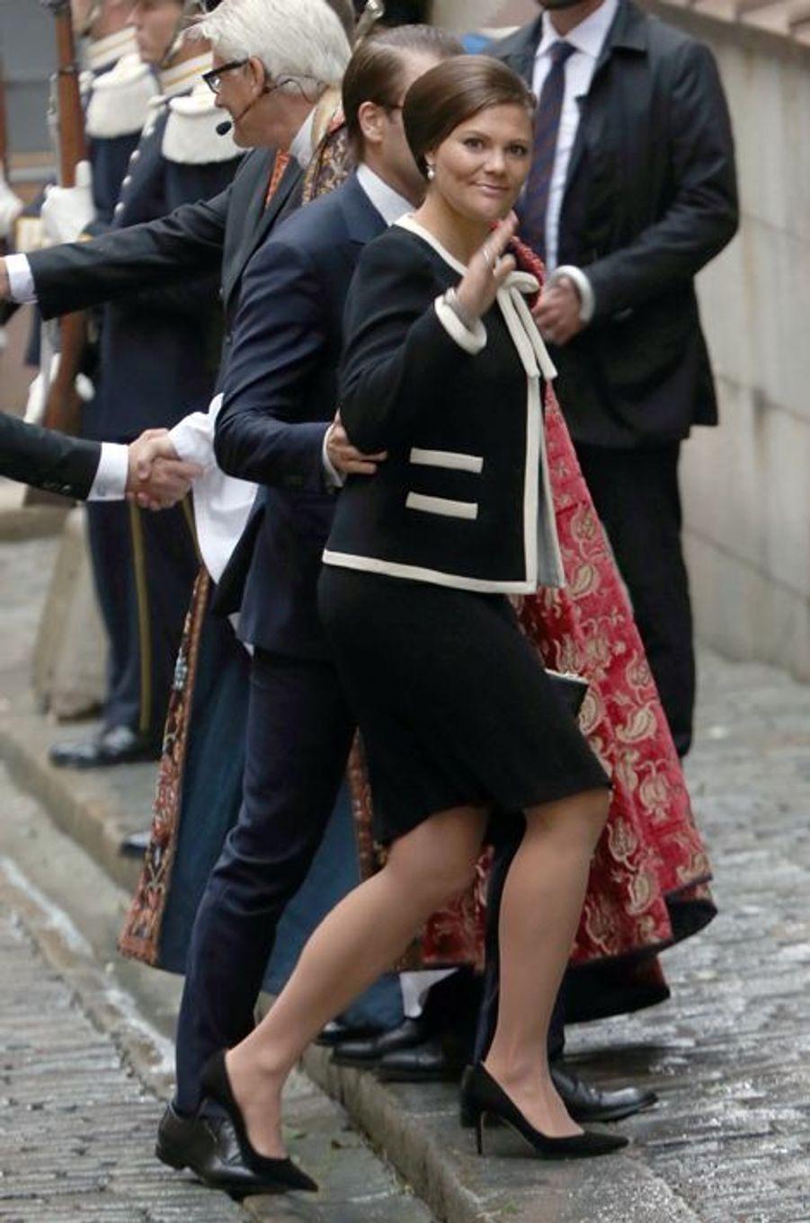 La princesse Victoria de Suède et le prince consort Daniel à Stockholm, le 15 septembre 2015