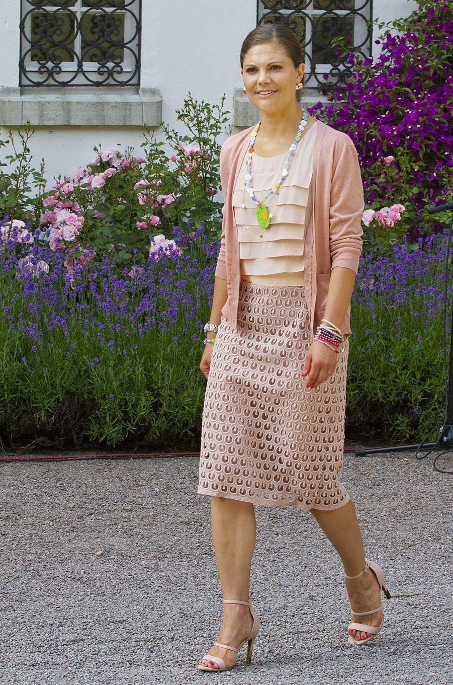 La princesse Victoria de Suède le jour de ses 36 ans, le 13 juillet 2013