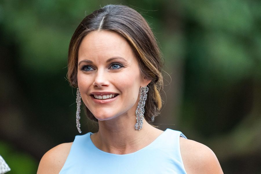 La princesse Sofia de Suède radieuse à Bastad, le 2 août 2017