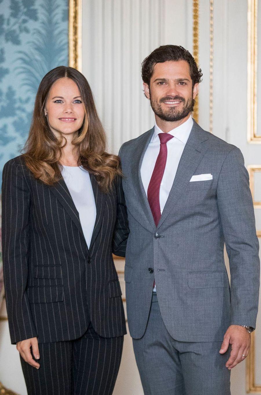 La princesse Sofia et le prince Carl Philip de Suède à Stockholm, le 7 septembre 2016