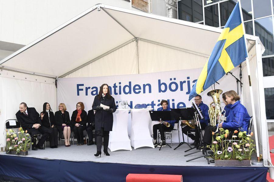 La princesse Sofia de Suède lors de l'inauguration d'un nouvel hôpital dans le comté de Stockholm, le 9 mars 2017