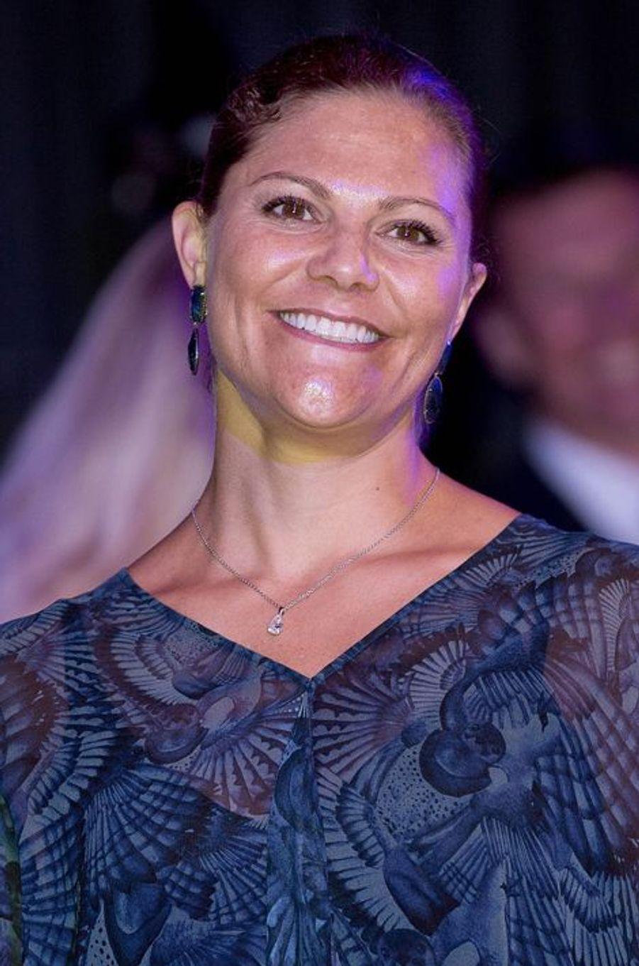 La princesse Victoria de Suède à Stockholm, le 25 août 2015