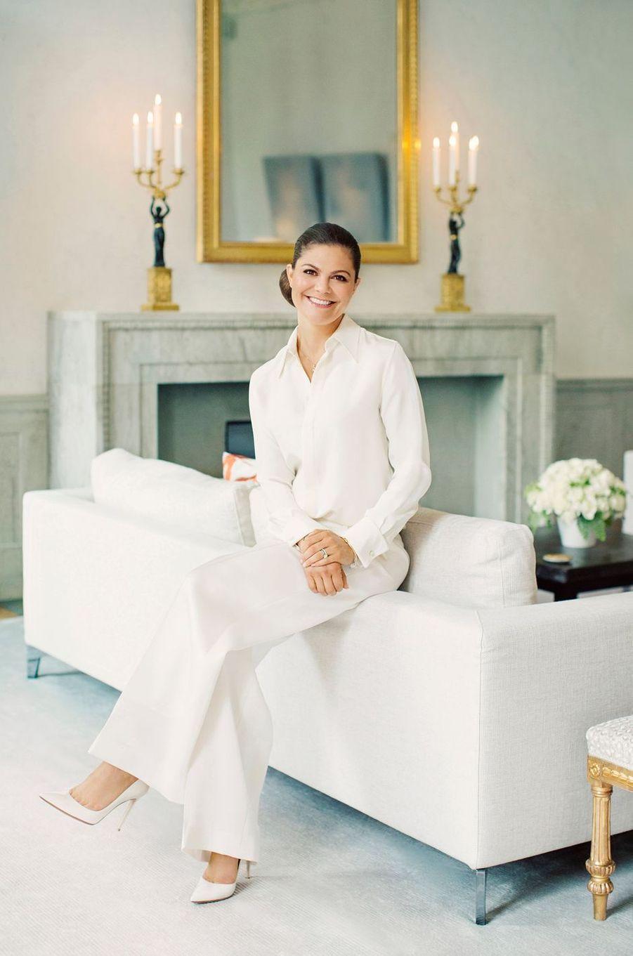 La princesse héritière Victoria de Suède. L'une des photos dévoilées en juin 2017 en prélude à ses 40 ans