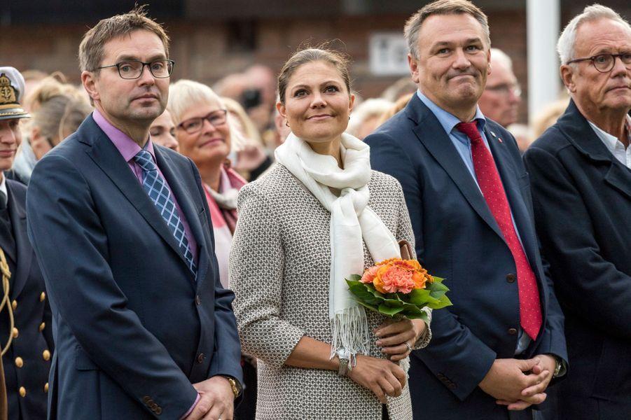 Victoria, princesse héritière de Suède, sur l'île d'Öland le 28 septembre 2016 pour lancer la 20e Fête de la récolte