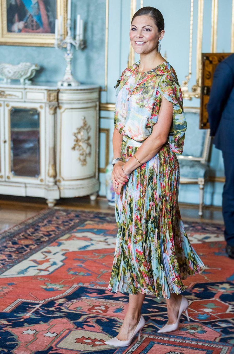 La princesse Victoria de Suède à Stockholm, le 24 août 2017