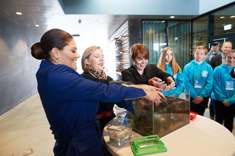 La princesse Victoria de Suède inaugure le Centre d'éducation marine à Malmö, le 11 octobre 2017