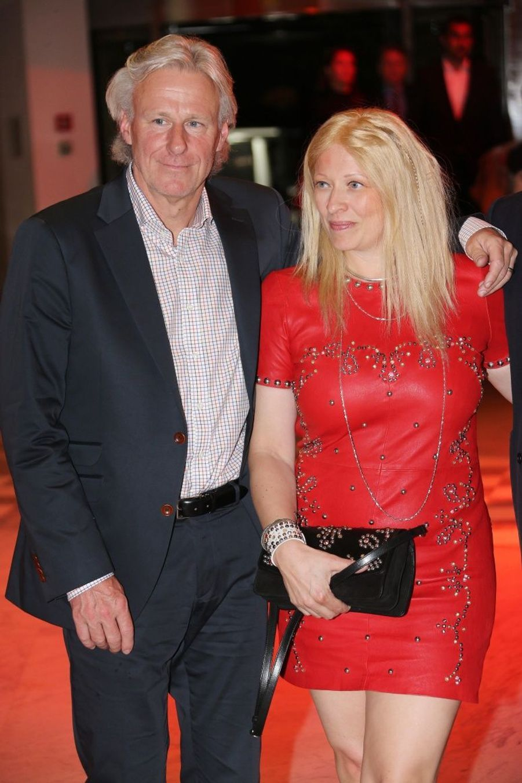 Björn Borg et son épouse