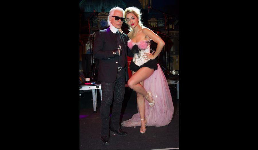 Karl Lagerfeld et Rita Ora
