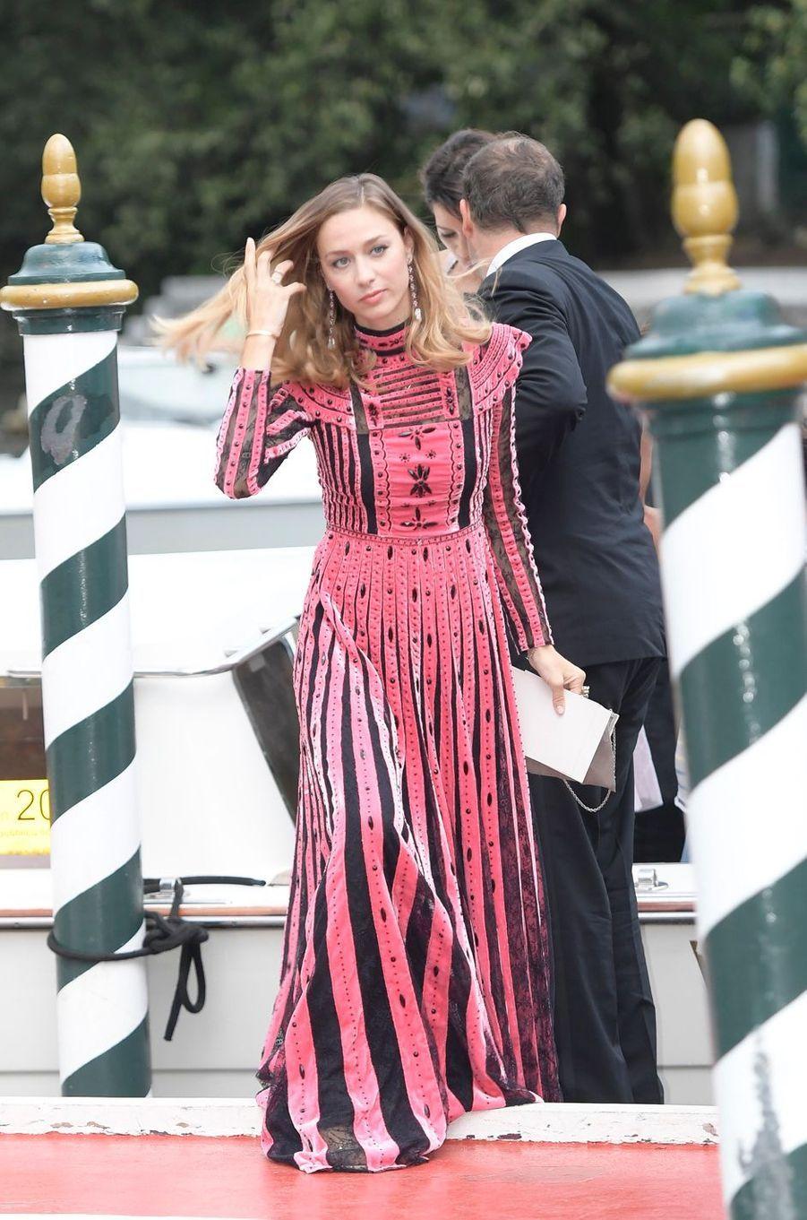 Beatrice Borromeo dans une robe Valentino à Venise le 1er septembre 2017
