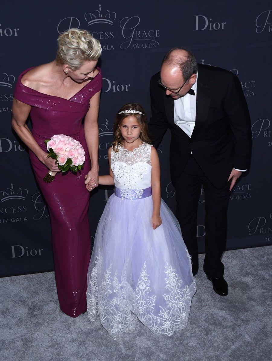 """Le Prince Albert II De Monaco Et La Princesse Charlène De Monaco Au Gala """"Princess Grace Awards 2017"""" Au Beverly Hilton Hotel À Los Angeles, Le..."""