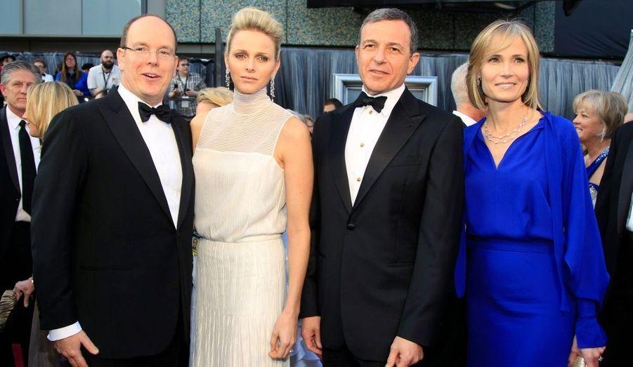 Avec Robert Iger, patron de Disney, et son épouse Willow Bay