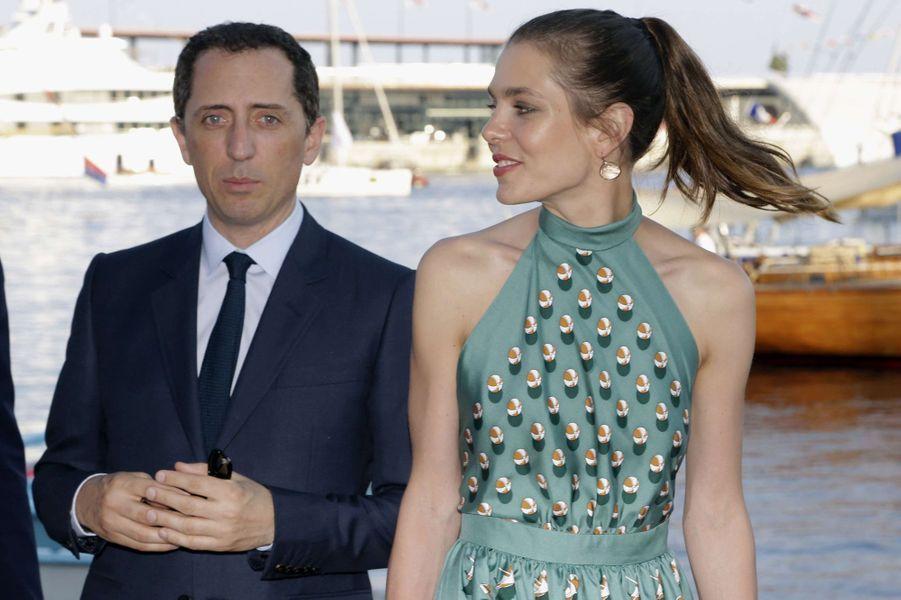 Gad Elmaleh et Charlotte Casiraghi à Monaco le 20 juin 2014