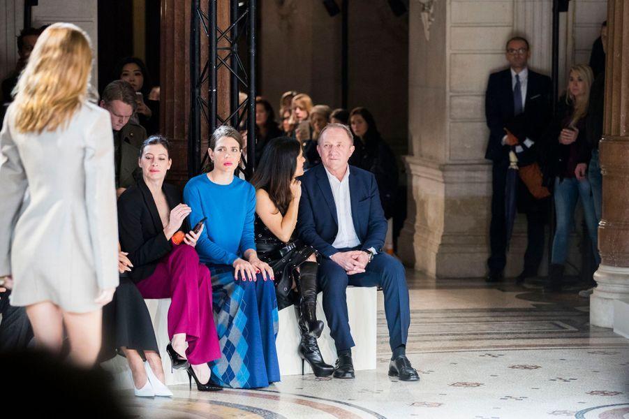 Charlotte Casiraghi au défilé Stella Mc Cartney à la Fashion Week à Paris, le 6 mars 2017