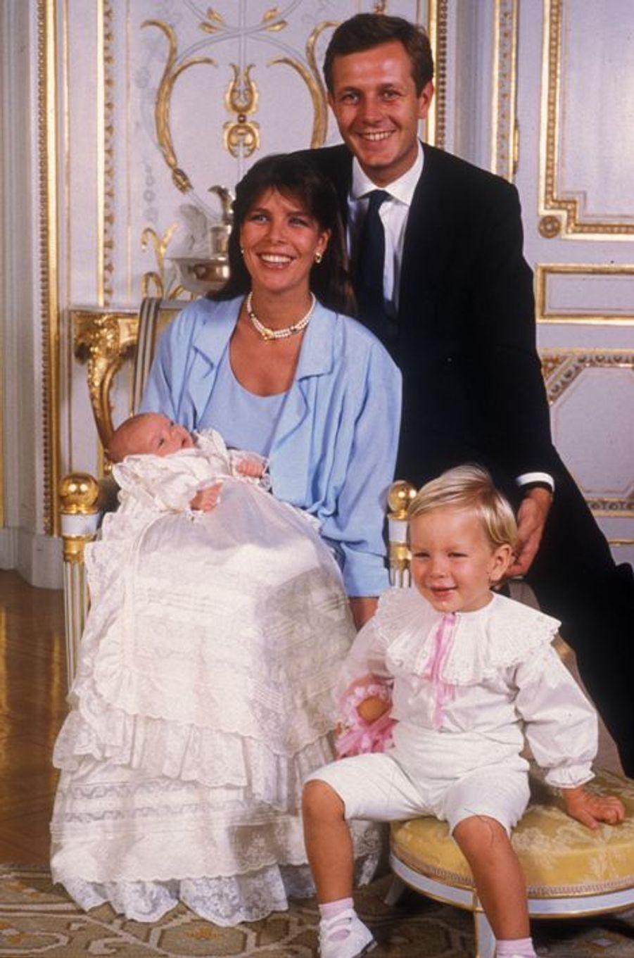 Le baptème de Charlotte Casiraghi le 21 septembre 1986