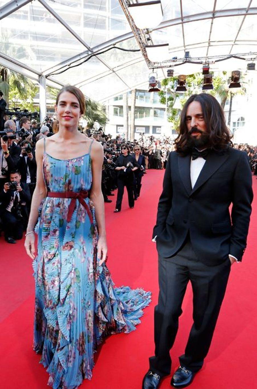 Charlotte Casiraghi avec Alessandro Michele au Festival de Cannes, le 17 mai 2015