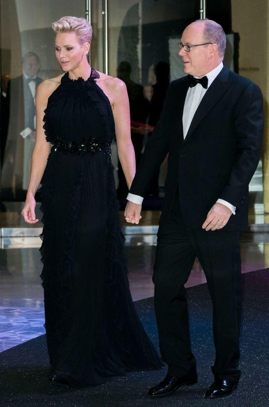 La princesse Charlène et le prince Albert II de Monaco à Monaco, le 26 novembre 2017