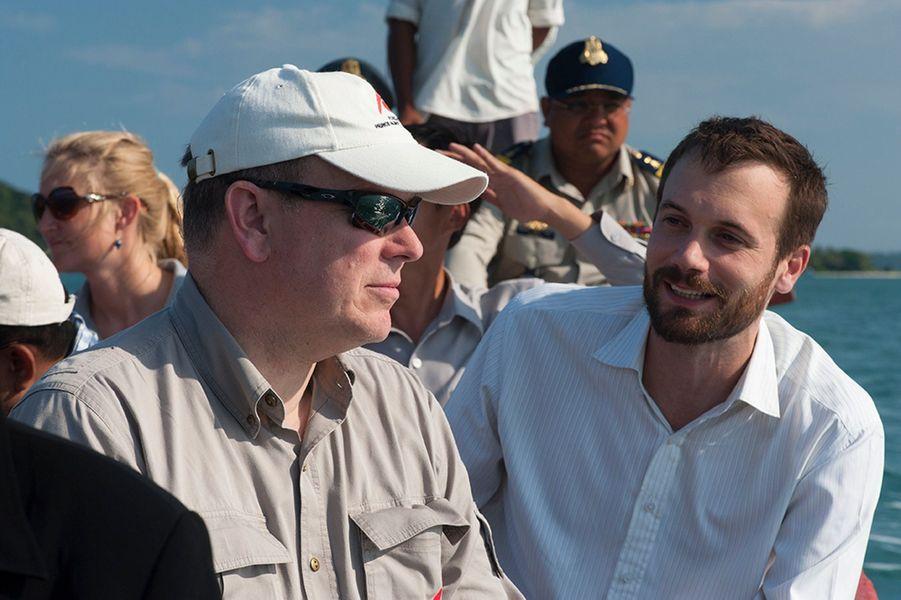 Le prince Albert de Monaco en visite au Cambodge