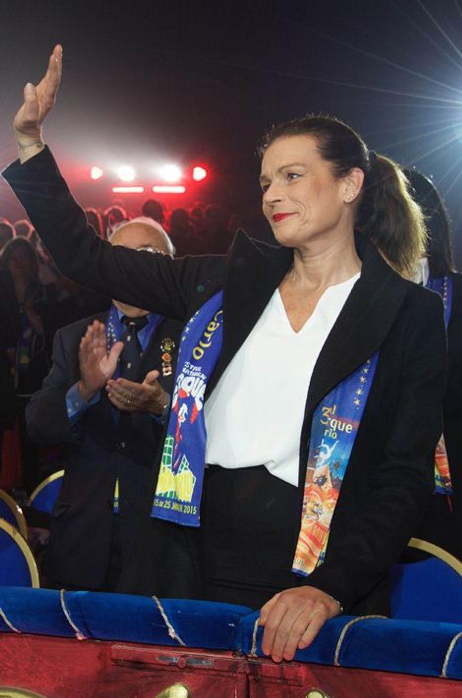 Stéphanie de Monaco au 39e Festival du cirque de Monte-Carlo, le 16 janvier 2015