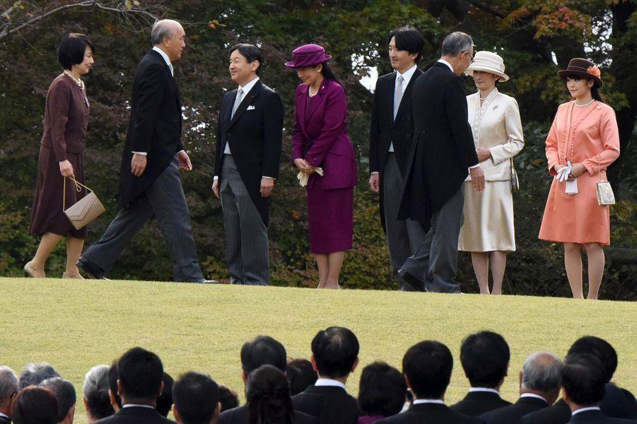La famille impériale à Tokyo, le 12 novembre 2015