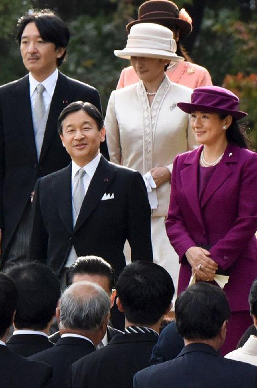 Les princesses Masako et Kiko et les princes Naruhito et Akishino du Japon à Tokyo, le 12 novembre 2015