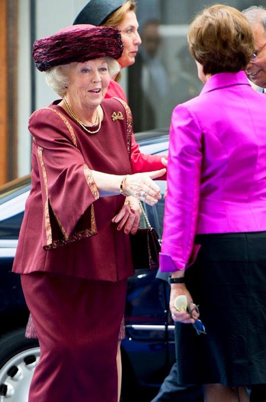 Beatrix des Pays-Bas à la cérémonie de remise des Prix Max van der Stoel à La Haye