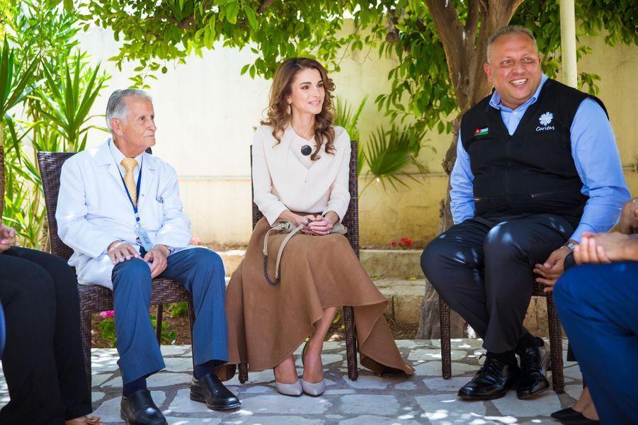 La reine Rania de Jordanie à Amman, le 14 juin 2016