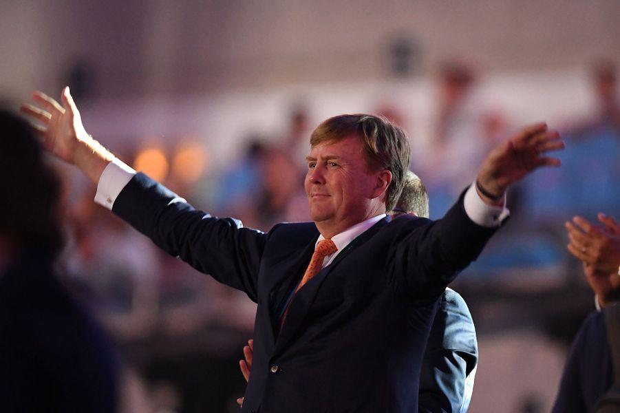 Le roi Willem-Alexander des Pays-Bas à la cérémonie d'ouverture des JO de Rio, le 5 août 2016