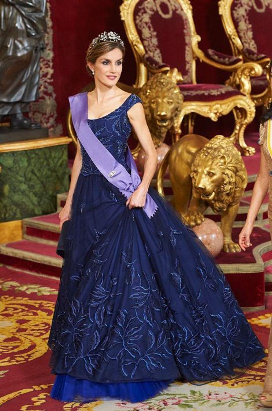 La reine Letizia d'Espagne, le 7 juillet 2015