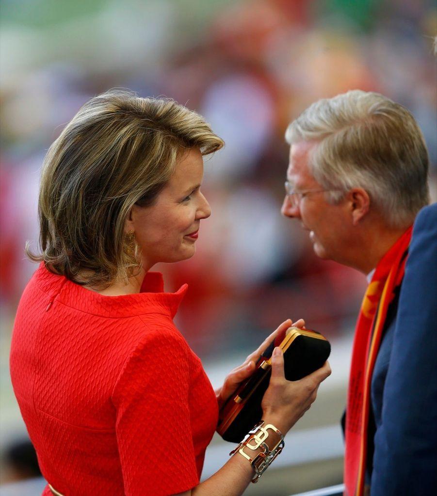 Mathilde et Philippe, plus grands supporters de la Belgique