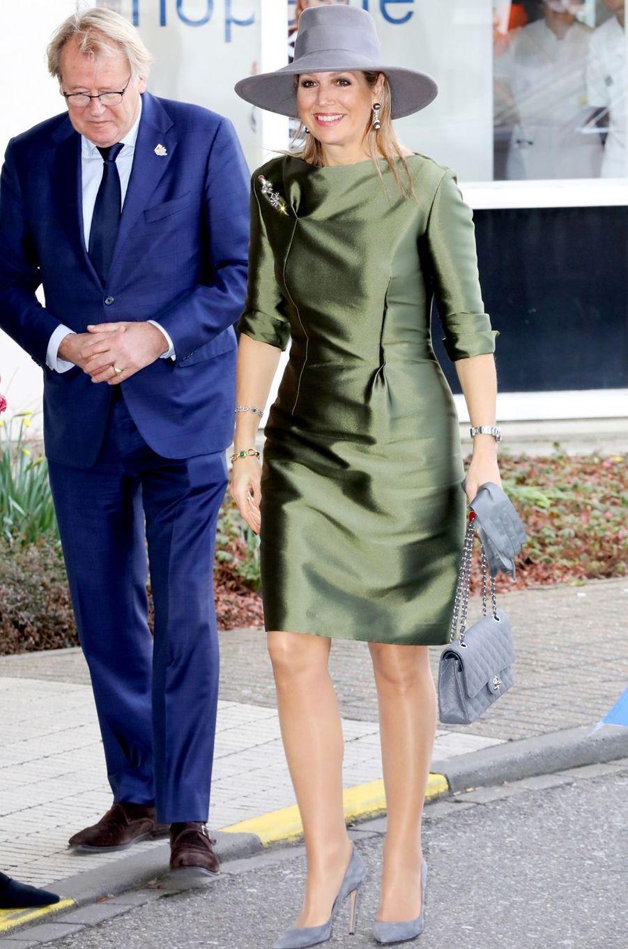 La reine Maxima des Pays-Bas, en Natan, à La Haye le 15 mars 2018