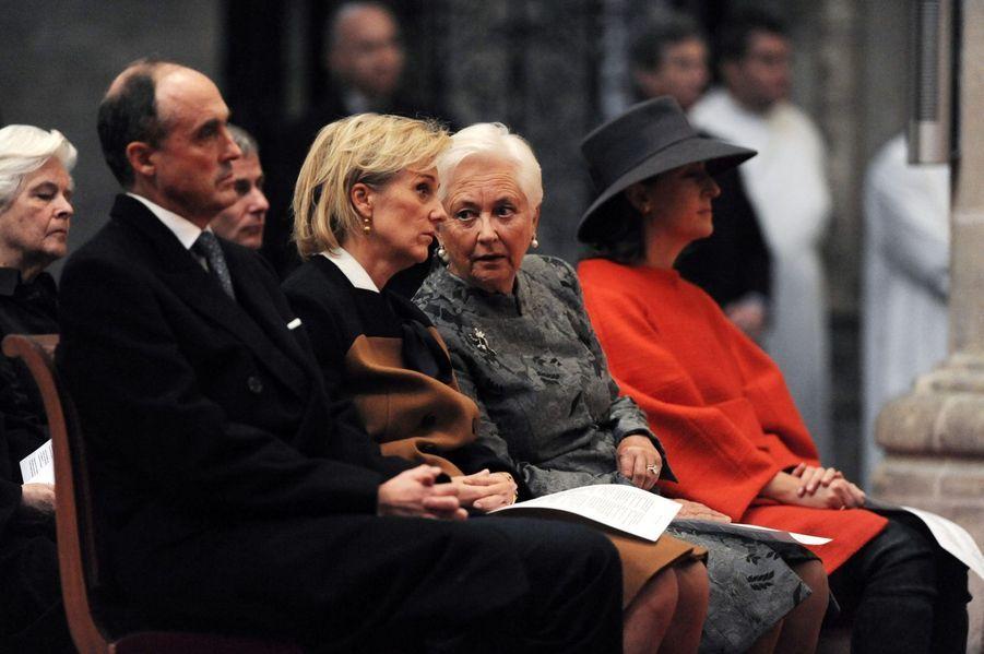 La famille royale de Belgique assiste au Te Deum à la cathédrale de Bruxelles pour la Fête du roi, le 15 novembre 2014