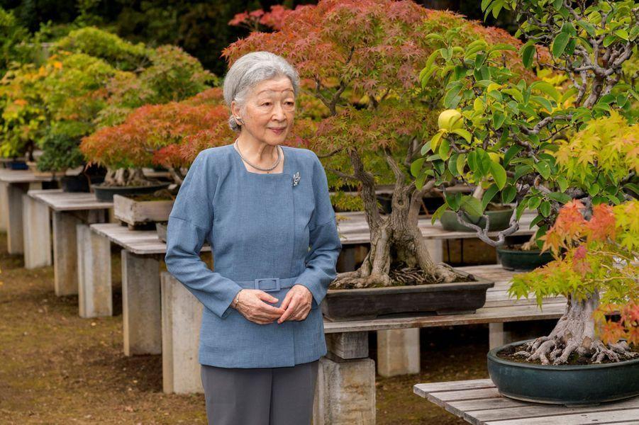 L'impératrice Michiko du Japon à Tokyo, le 20 septembre 2017. Photo diffusée le 20 octobre 2017 pour son 83e anniversaire