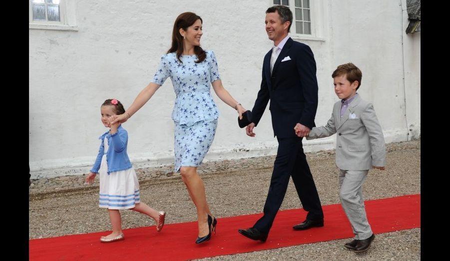 Mary, Frederik et leurs enfants