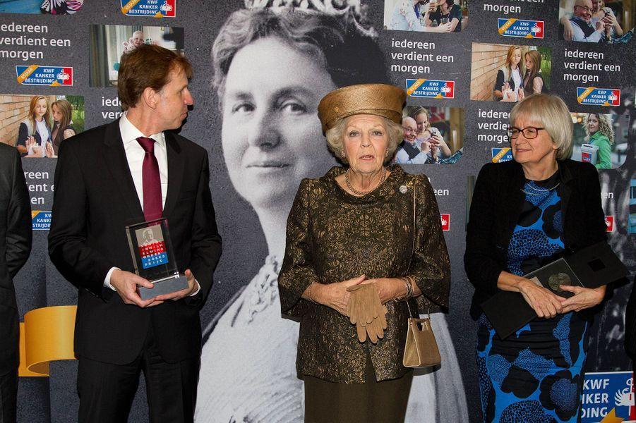 La princesse Beatrix des Pays-Bas au 65ème anniversaire de la lutte contre le cancer à Amsterdam, le 31 octobre 2014
