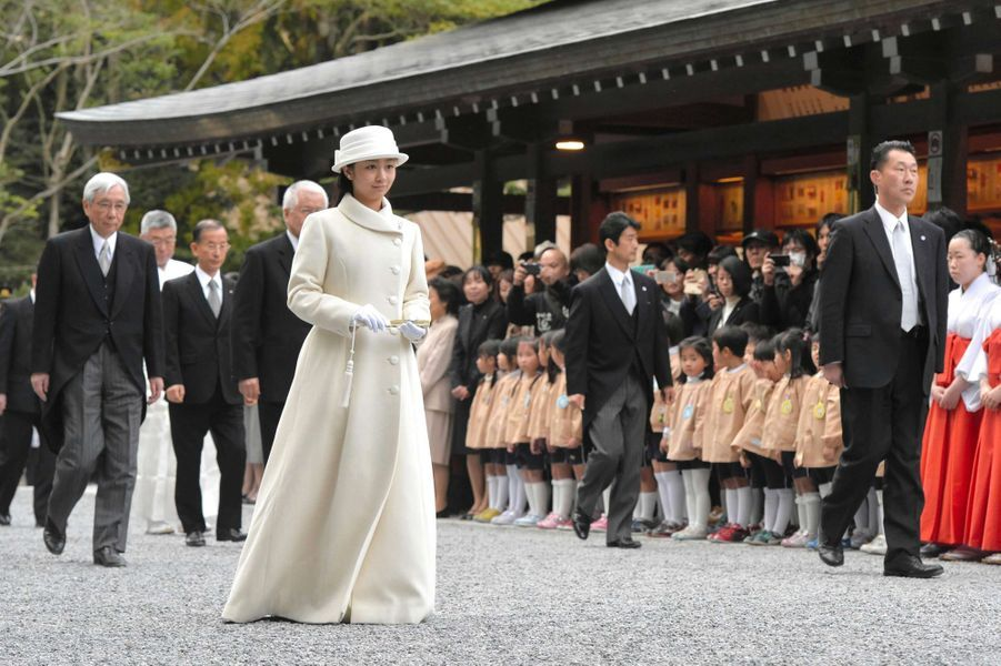 La princesse Kako au sanctuaire d'Ise-Jingu, le 6 mars 2015