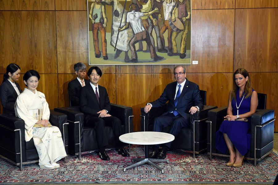 La princesse Kiko et le prince Akishino du Japon à Brasilia, le 5 novembre 2015