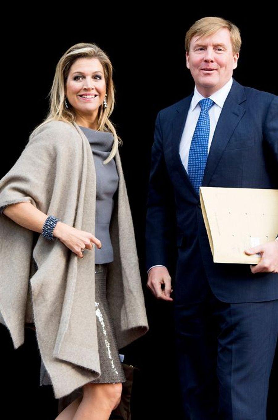 Le roi Willem-Alexander des Pays-Bas et la reine Maxima au prix du prince Claus à Amsterdam, le 10 décembre 2014