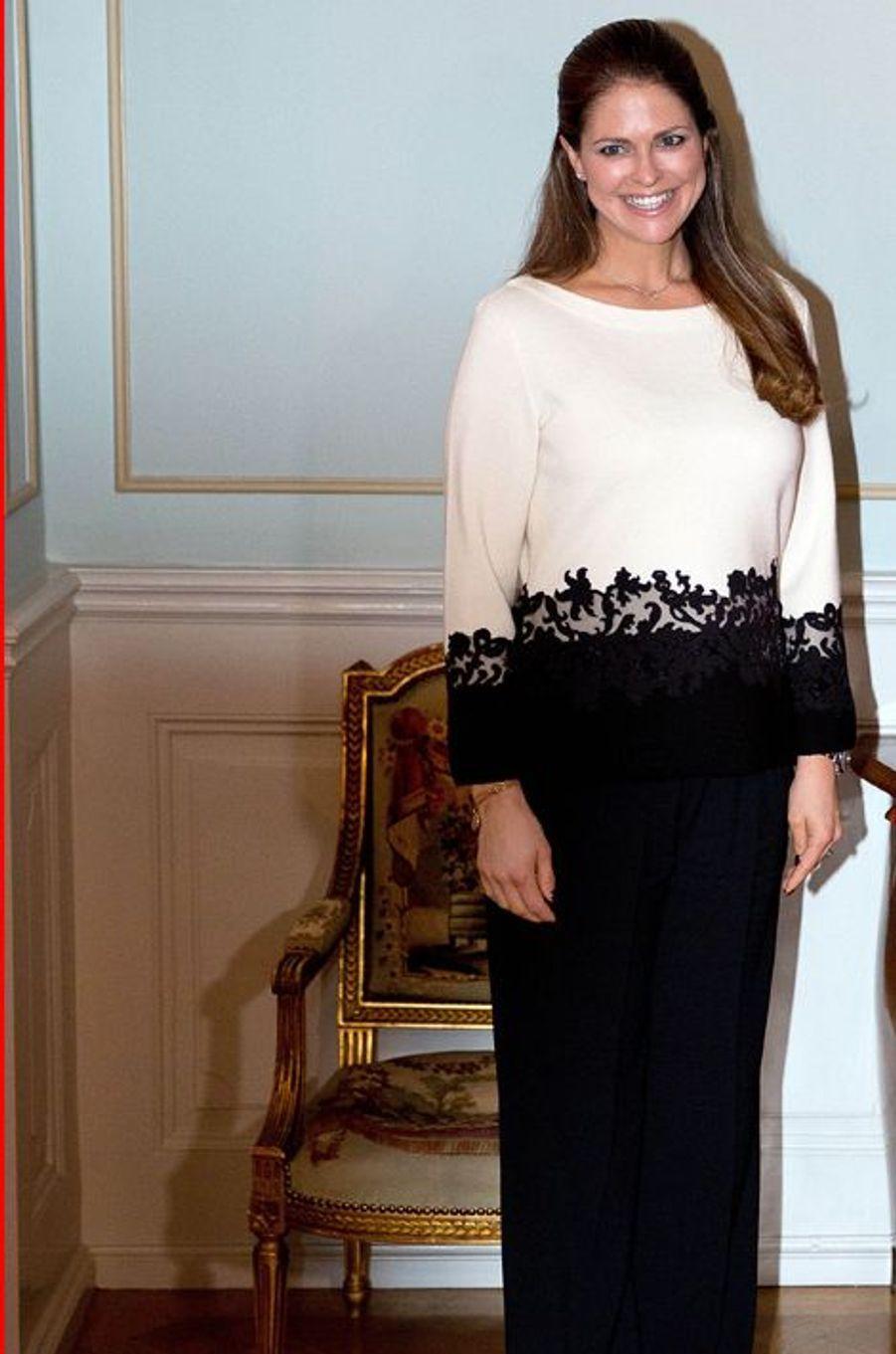 La princesse Madeleine au château de Gävle, le 2 février 2015
