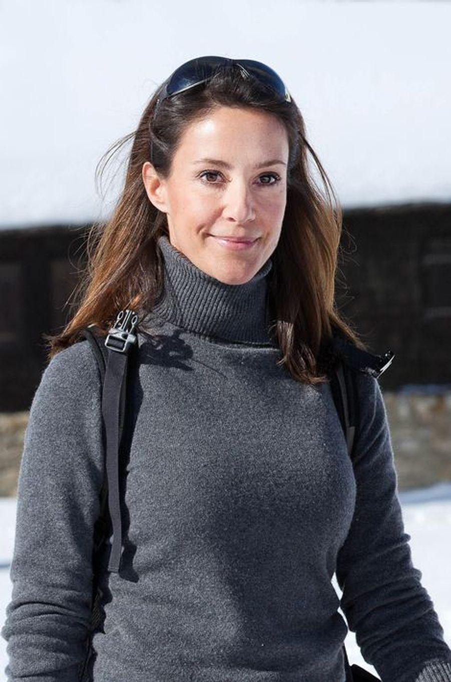 La princesse Marie de Danemark, en vacances à Villars-sur-Ollon, le 10 février 2015
