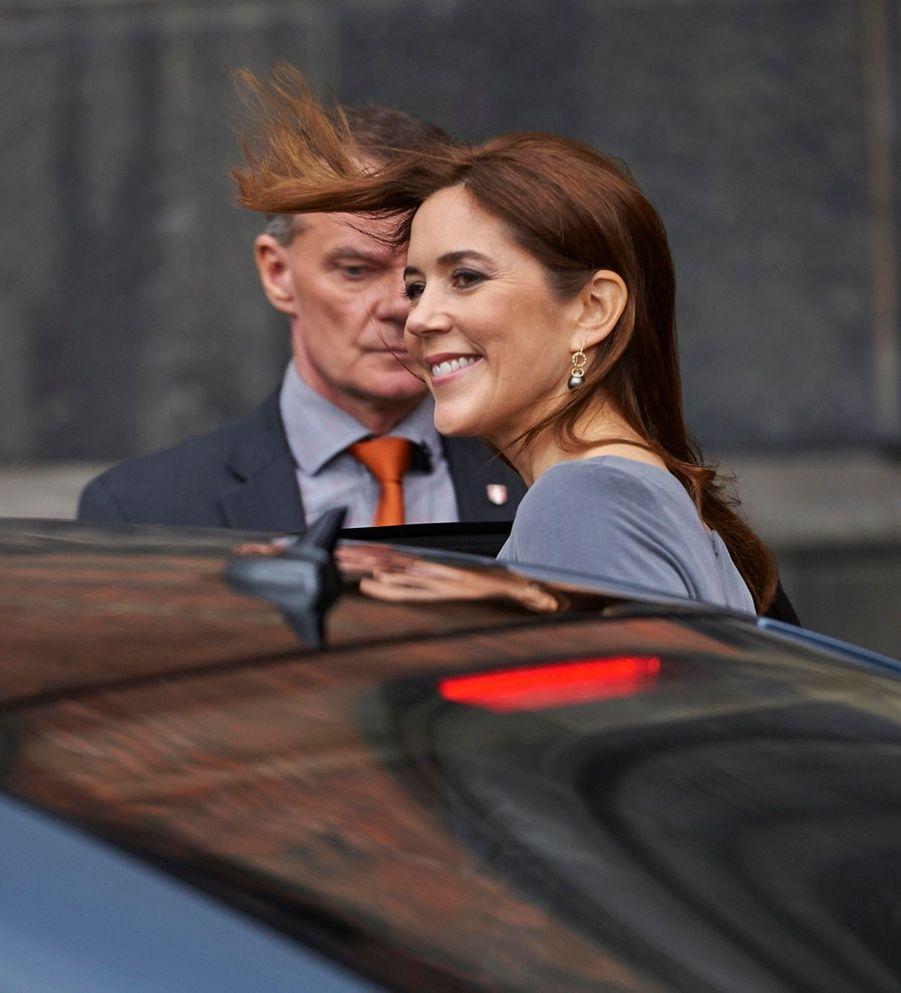 La princesse Mary de Danemark à l'Hôtel de Ville de Copenhague, le mercredi 1er octobre.