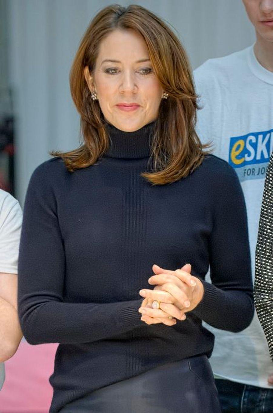 La princesse Mary de Danemark lors de la finale scandinave de la FIRST LEGO League à Brondby, le 29 novembre 2014