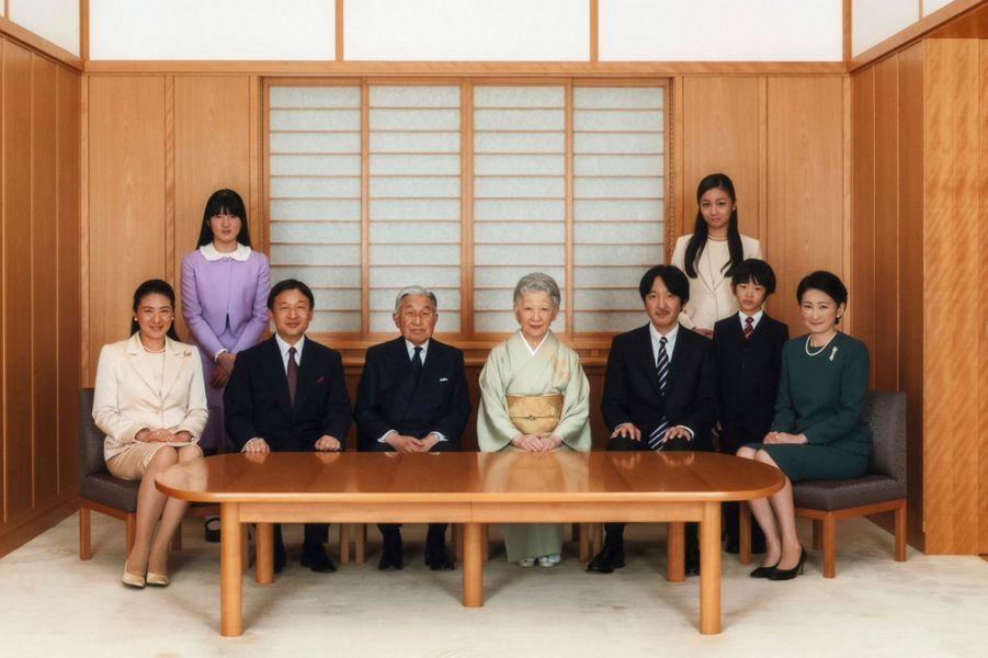 Photo de nouvelle année de la famille impériale du Japon, prise le 18 novembre 2014