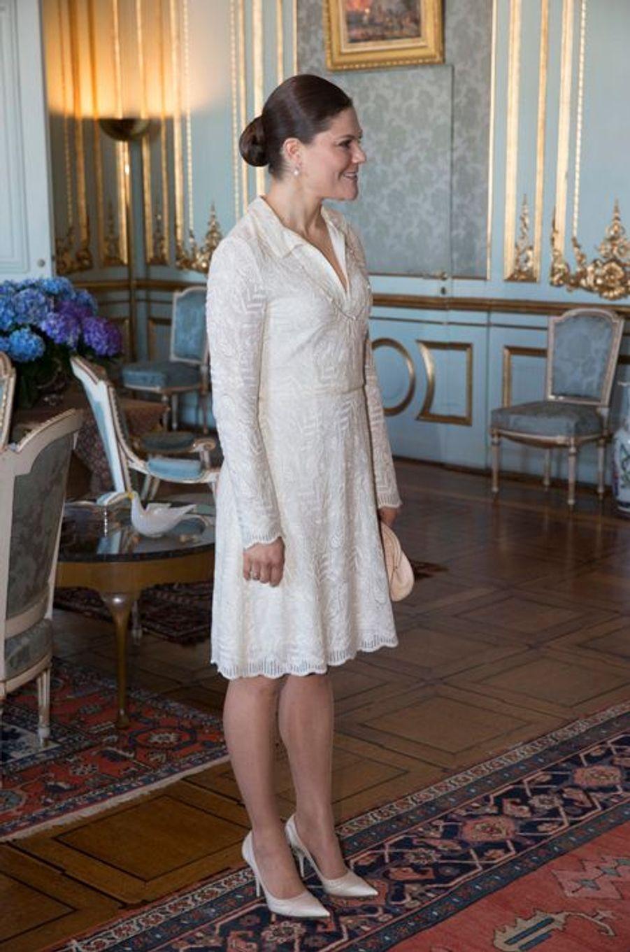 La princesse Victoria de Suède à Stockholm, le 9 mars 2015
