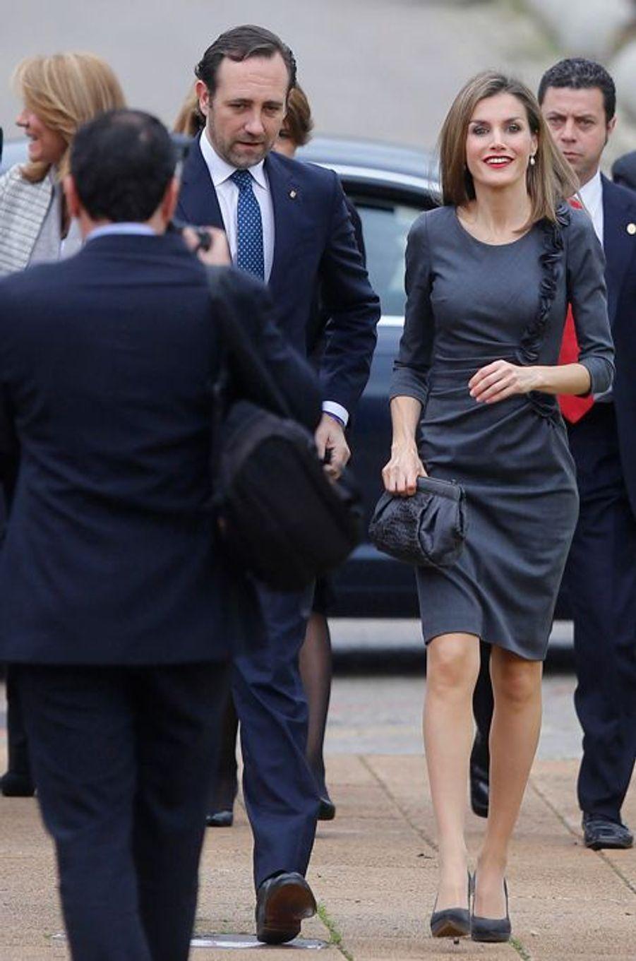 La reine Letizia d'Espagne à Palma de Majorque, le 27 novembre 2014